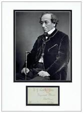 Benjamin Disraeli Autograph Signed Envelope  AFTAL  UACC Registered Dealer