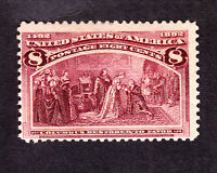 US 236 8c Columbian Mint Fine OG NH SCV $160 (001)