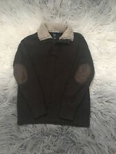 Gap Kids Sherpa Collar Sweater Elbow Patched Size 4-7 Xs-S