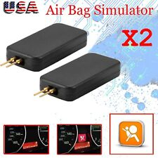 2x Car Airbag Simulator Emulator Bypass Kit Code Fault Fix SRS Diagnostic Tool