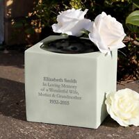 Personalised Message Memorial Vase Grave Flower Bowl Cemetery Holder Funeral