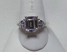 Sterling Silver Cubic Zirconia 3 Stone Ring ~Size 10.5~              Lot 2019