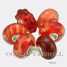 Authentic Trollbeads Silver Coral Kit - 6 Beads  63044