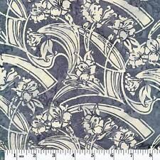 Hoffman Priced per ½ yd Bali Chop Batik L2608-173 Art Deco Smoke
