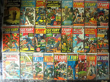 Sgt. Fury & His Howling Commandos 75-164, 25 diff - Vg or better