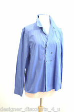 A Pea in the Pod blue cotton lightweight button blouse top shirt career size L