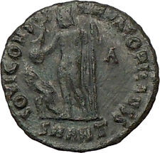LICINIUS II Constantine the Great  Nephew Ancient Roman Coin Nude Zeus i22169