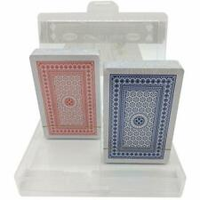 Coffret 2 jeux de 56 cartes À Jouer Qualité Premium Plastifiées