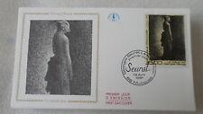 FDC Enveloppe Premier Jour - CEF - Le noeud noir Seurat - 13/04/1991 - Mulhouse