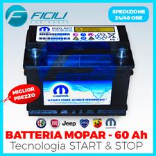 Batteria Mopar 60 AH Ampere - Start e Stop - Fiat AlfaRomeo Lancia - 500A EN2-SA