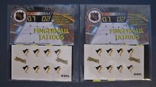 PITTSBURGH PENGUINS FINGERNAIL TATTOOS LOT OF TWO PACKS NEW IN PACKAGE NHL