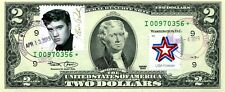 $2 DOLLARS 2003 STAR STAMP CANCEL THE MUSIC ICONS ELVIS PRESLEY $500