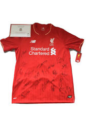 Liverpool FC Signed First Team Squad shirt 2016