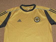 Adidas Philadelphia Union Mens Gold Soccer Futbol Football Jersey Shirt L large