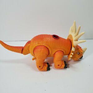 """Imaginext Orange Styracosaurus Dinosaur 10"""" Action Figure Mouth Open/shut"""
