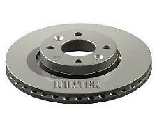 2x Brake Discs (Pair) Vented fits NISSAN MICRA K14 0.9 Front 2016 on 260mm Set