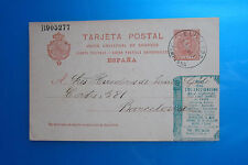 Spain: 1907; Postal Stationery, cancellation Pamplona, private book, good  ES049