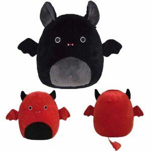 "NEW Squishmallow 2020 Halloween Devil Bat 8'12"" Red Bat Plush Toy Kids xmas Gift"