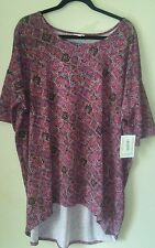LULAROE XL IRMA Tunic - Shirt Pink and Purple Orange Floral. A51