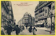 cpa PARIS Rue LAFAYETTE Carrefour de la Rue de CHÂTEAUDUN Animé Le PETIT JOURNAL