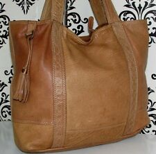 LARGE FAT FACE REAL LEATHER VINTAGE SHOPPER SLOUCH TOTE SHOULDER /PURSE