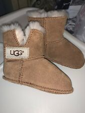 Baby Ugg Australia Booties Size Us 2/3 Soft Sole Crib Shoes Classic Tan
