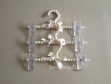 Plastic Pearl Bow Pants Trousers Hanger Skirt Clothes Hangers For Kid Children