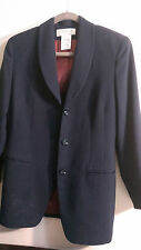 JONES OF NEW YORK WOMEN'S NAVY JACKET SIZE 10 PETITE