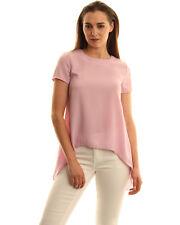 Glamorous Split Open Back Top - Lilac Size M