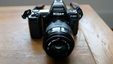Nikon F801S 35mm SLR Film Camera with lens and accessories