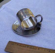 Good MERIDEN BRITANNIA CO Silverplate WATER LILY FIGURAL Napkin Ring #168-FRANK