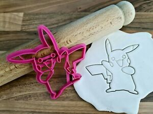 Pokemon Pikachu Cookie Cutter Cake Fondant 3D Printed