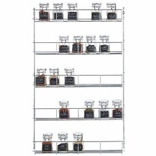5 Tiers Kitchen Spice Herb Rack Wall Mount Cabinet Shelf Organizer Storage Rack
