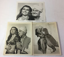 KIM Vintage B/W Movie Photos~ERROL FLYNN + LAURETTE LUEZ~ SET of 3