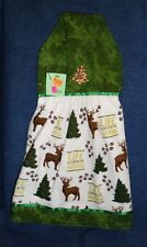 **NEW** Handmade Life is Good in the Woods Deer Hanging Kitchen Hand Towel #1898
