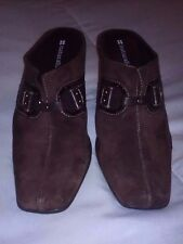 "Naturalizer Women Shoes 3"" Heel Leather Upper Brown Size 7 1/2 M Pre-Owned Great"