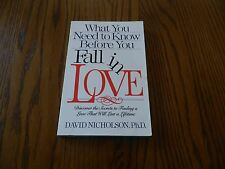 What You Need to Know Before You Fall in Love by David Nicholson (1995,...