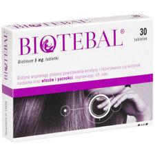 3x Biotebal biotin 5mg - against hair loss 90 tablets