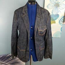 Rare Levi's Red Line Collection Men Denim Blazer Jacket Size Medium