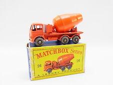 """LOT 33330   Matchbox 26 B Foden Cement Mixer Modell neuwertig mit """"D""""-Box"""