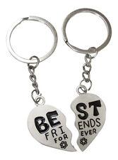 2 Porte-clés, bijoux de sac coeur à séparer best friends forever en acier.