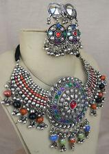 Statement Choker Bib Charm Necklace Afghan Gypsy Tribal Fusion Belly Dance Boho