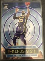 2019-20 PANINI DONRUSS OPTIC LEBRON JAMES T-MINUS 3 2 1 PURPLE HOLO PRIZM Lakers