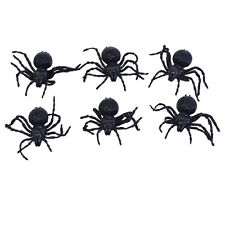 Spiders Small 6pcs Arachnid Scary Spooky Creature Halloween Party Decoration