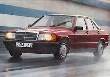 MERCEDES 190 190D W201 Diesel MB Classic Youngtimer Prospekt Brochure 1984 37