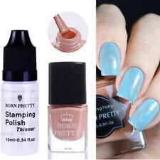 2pcs/set Pink Nail Art Stamping Polish & Nagellack Thinner Maniküre Born Pretty