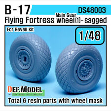 DEF.MODEL, DS48003, B-17 Flying Fortress Wheel set 1 (for Revell 1/48) ,1/48
