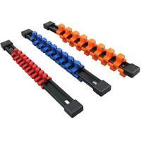 "3pcs Socket Organizer 1/2"" 3/8"" 1/4"" Mountable Socket Sliding R Rack Holder U5R0"