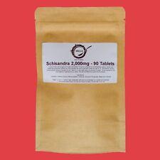 3 Months Schisandra Tablets | 2,000mg | High Strength Extract | ANTIOXIDANTS