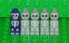 LEGO Ninjago - Microfig Lot: Purple Skeleton & 4 Gray Skeletons (5 Microfigs)